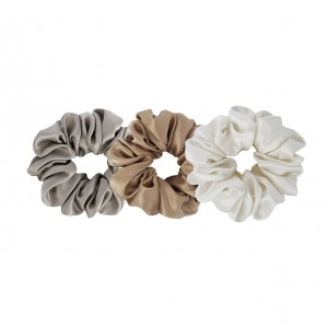 3 Silk scrunchies - Set
