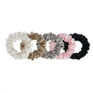 5 Silk scrunchies - Set