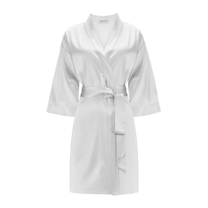 Silk Robe Silver Grey