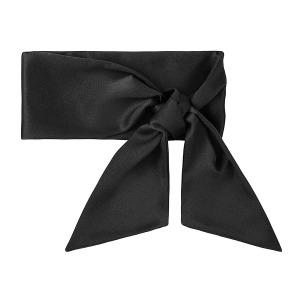 Silk scarf long Midnight Black