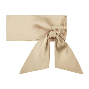 Silk scarf long French Beige