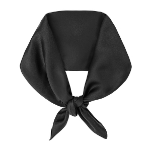 Silk scarf square Midnight Black