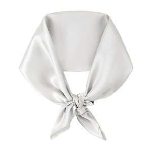 Silk scarf square Silver Grey