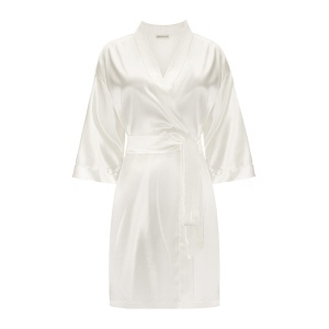 Silk Robe Powder White
