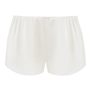 Silk Shorts Powder White