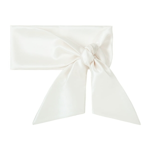 Silk scarf long Powder White