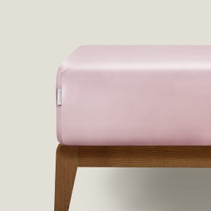 Silk fitted sheet Blush Pink