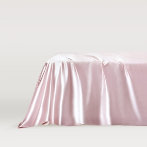 Silk flat sheet Blush Pink